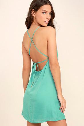Top Pick Turquoise Slip Dress 1