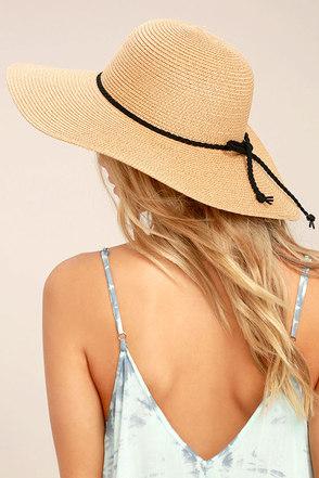 My Paradise Tan Floppy Straw Hat 1