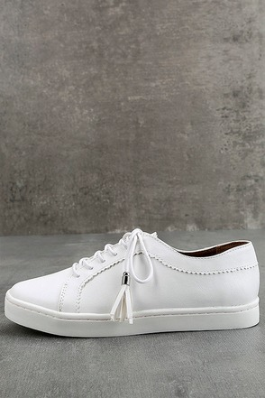 Report Amethyst White Sneakers 1