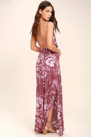 Live in Harmony Mauve Tie-Dye Maxi Dress 1