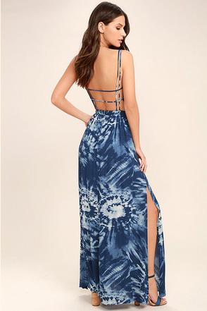 Live in Harmony Blue Tie-Dye Maxi Dress 1