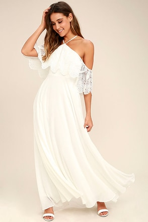 Little White Dresses-Long &amp- Short White Dresses for Women