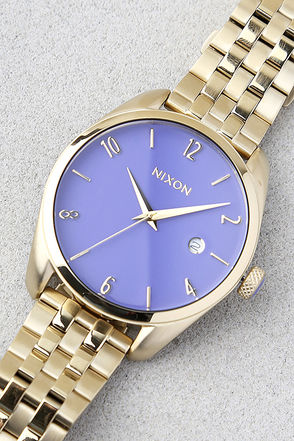 Nixon Bullet Light Gold and Lavender Watch 1