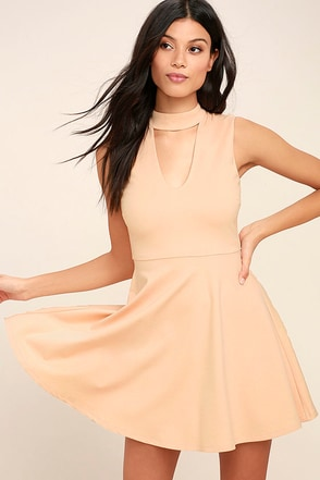 Loving You is Easy Blush Pink Skater Dress 1