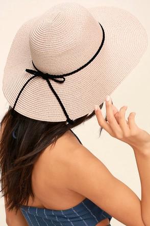 My Paradise Blush Floppy Straw Hat 1