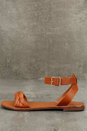 Tinsley Tan Ankle Strap Sandals 1