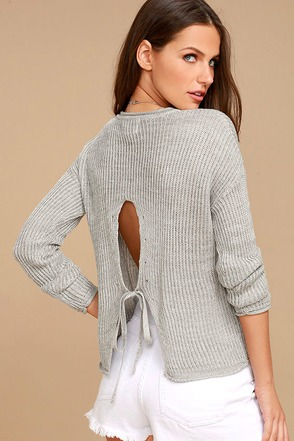 Olive & Oak Bali Light Grey Sweater 1