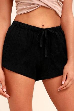 RVCA Yume Black Shorts 1