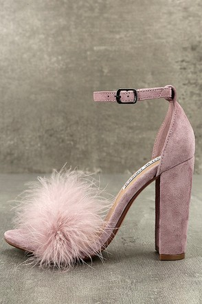 Steve Madden Carabu Rose Suede Leather Feather Heels 1