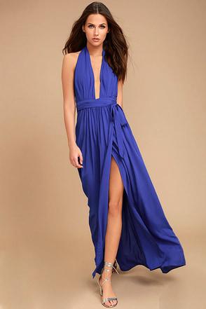 Magical Movement Royal Blue Wrap Maxi Dress 1
