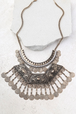 Saharan Stunner Gold Statement Necklace 1