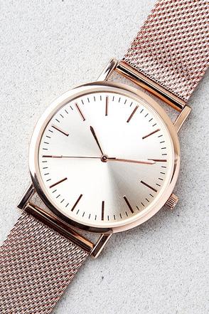 Tick-Tock Rose Gold Watch 1