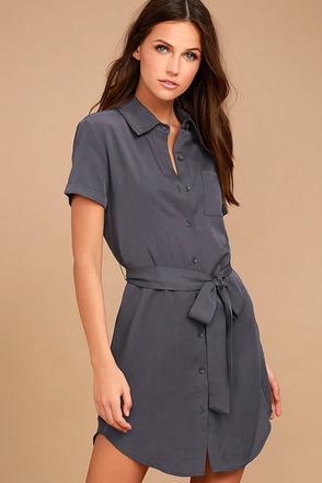 Self-Starter Denim Blue Shirt Dress 1