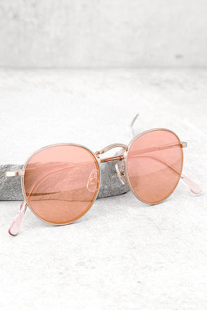 Crap Eyewear The Tuff Patrol Rose Gold Mirrored Sunglasses 3