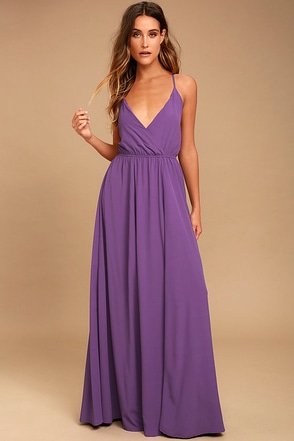 Everything's All Bright Purple Backless Maxi Dress 1