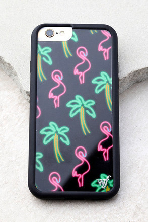 Wildflower Miami Pink Flamingo Print iPhone 6 and 6s Case 1