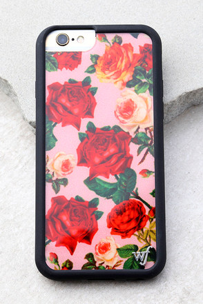 Wildflower Rose Garden Pink Floral Print iPhone 6 and 6s Case 1