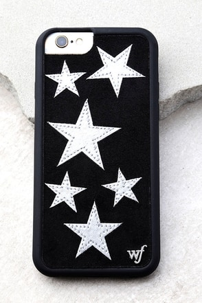 Wildflower Star Vintage Silver and Black iPhone 6 and 6s Case 1