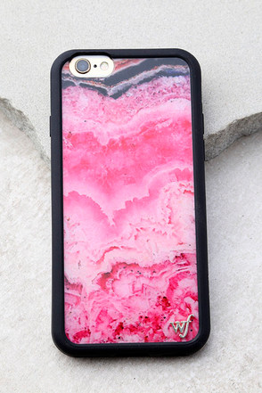 Wildflower Stone Pink Marbled iPhone 6 and 6s Case 1