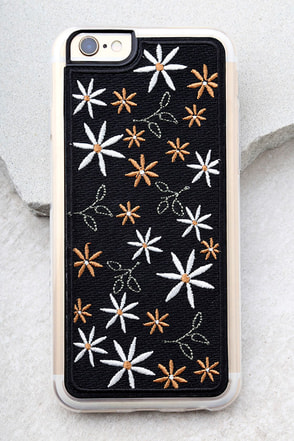 Zero Gravity Wander Black Embroidered iPhone 6 and 6s Case 1