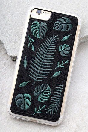 Zero Gravity Fern Black Embroidered iPhone 6 and 6s Case 1