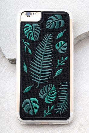 Zero Gravity Fern Black Embroidered iPhone 7 Case 1