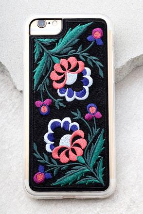 Zero Gravity Belle Black Embroidered iPhone 7 Case 1