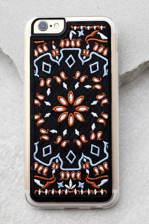 Zero Gravity Jagger Black Embroidered iPhone 6 and 6s Case 1
