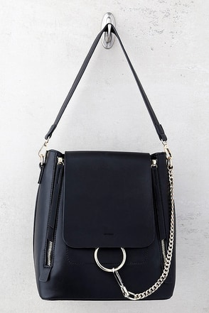 Melie Bianco Brooklyn Black Backpack 1