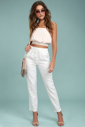 Sun-Drenched Ivory Pants 1