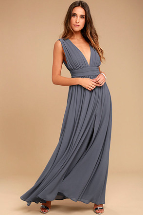 Heavenly Hues Denim Blue Maxi Dress 1