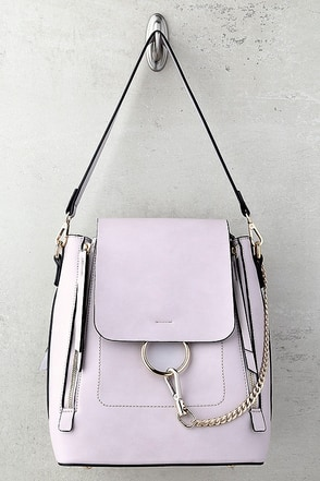 Melie Bianco Brooklyn Lavender Backpack 1