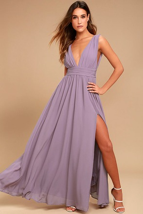 Heavenly Hues Dusty Purple Maxi Dress 1