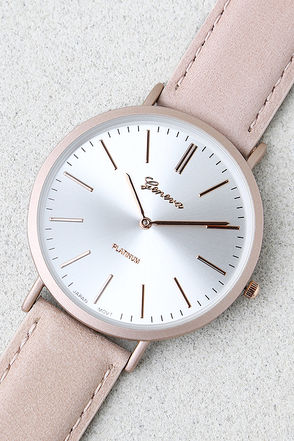 D'Arcy Mauve Leather Watch 1