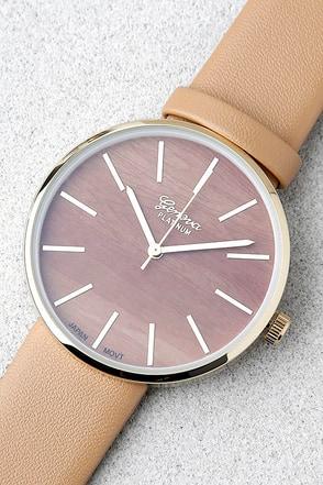 Synchronized Style Tan Watch 1