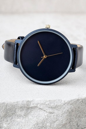 Make Good Time Navy Blue Watch 1