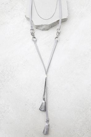 Miss Mae Grey Layered Choker Necklace 1
