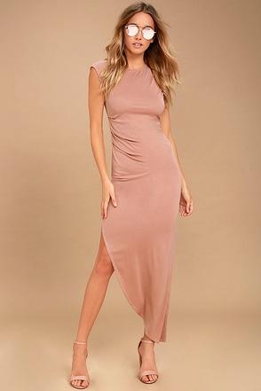 Positive Perspective Blush Midi Wrap Dress 1