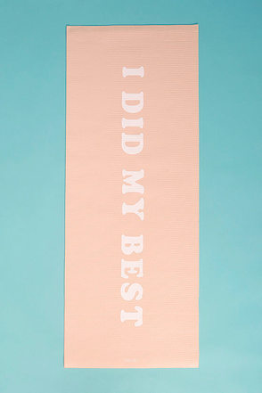 ban.do Work It Out I Did My Best Blush Exercise Mat 1