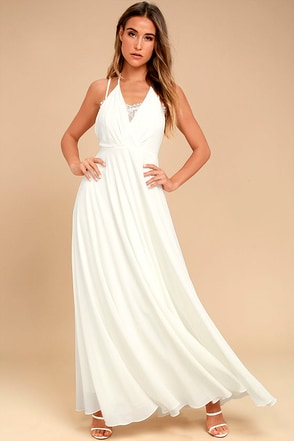 Celebrate the Moment White Lace Maxi Dress 1