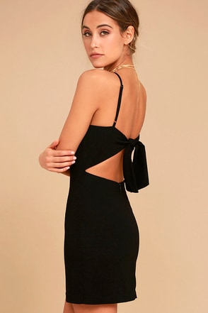 Toast to Life Black Mini Dress 1