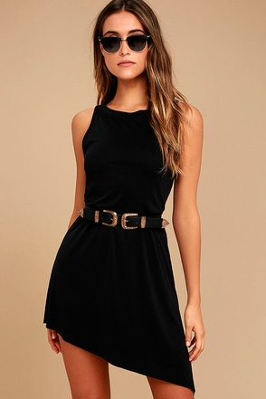 Deep in Thought Black Shift Dress 1
