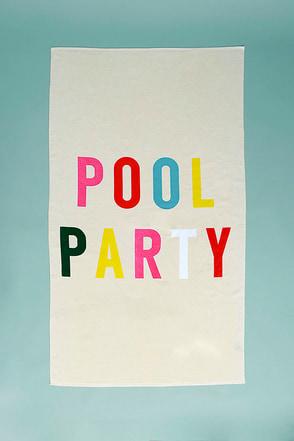 ban.do Beach, Please! Pool Party Cream Giant Beach Towel 1