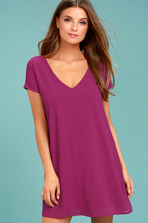 Freestyle Magenta Shift Dress 1