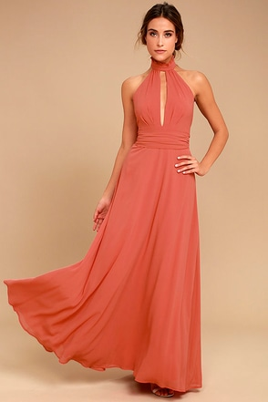 First Comes Love Rusty Rose Maxi Dress 1