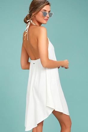 O'Neill Layla Cream Halter Dress 1
