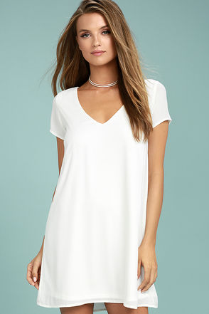 Freestyle White Shift Dress 1