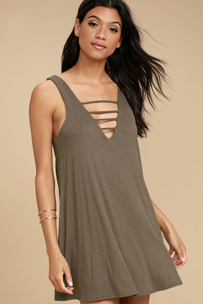 Lucy Love Cage Brown Mini Dress 1