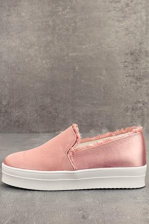 Magara Blush Satin Flatform Slip-On Sneakers 1