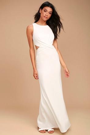 Trista White Cutout Maxi Dress 1
